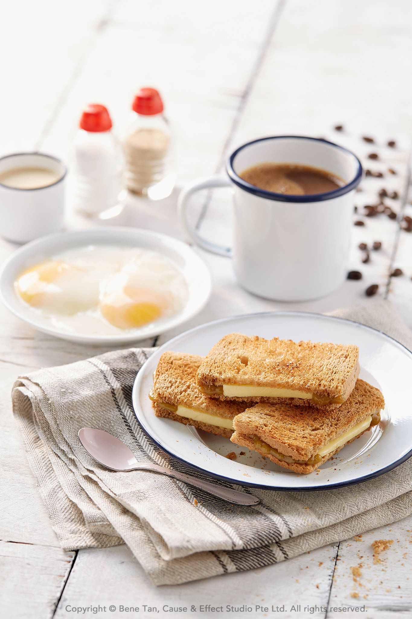 Coffee, Kaya Butter Toast & Hard Boiled Eggs