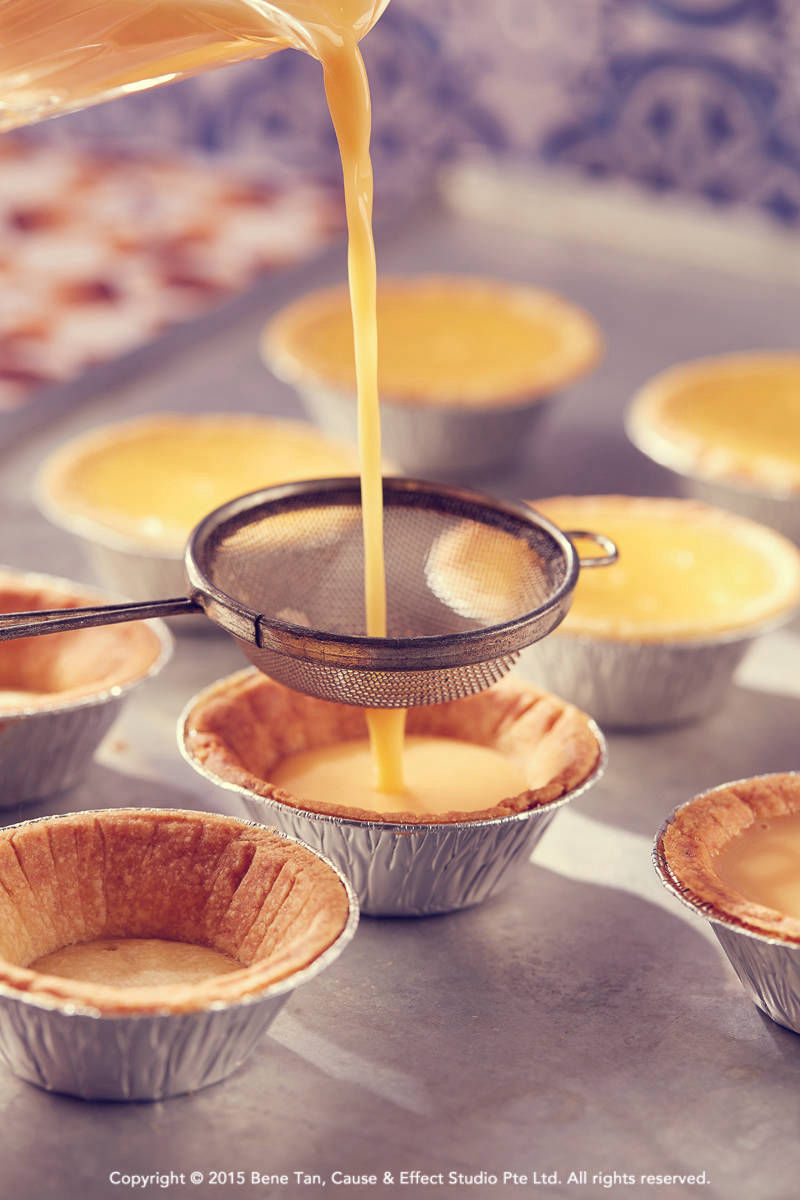 making of egg tarts